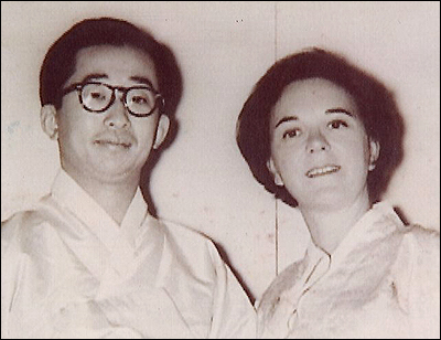 Yi Ku and Julia Mullock, his wife
