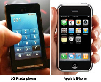 iPhone vs. LG KE850 Prada